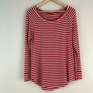 American Eagle red striped soft sexy jegging Tee M